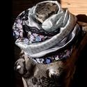KÉKEK :-) (Romantikus, csipkés selyem csősál) - Zubonyai, Ruha, divat, cipő, Kendő, sál, sapka, kesztyű, Sál, Női ruha, Varrás, A 15000 Ft feletti ingyen postázás nem vonatkozik minden termékre!!! Kérlek olvasd el ezzel kapcsol..., Meska