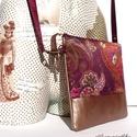 Padlizsán lila mini táska (selyem, műbőr) - Aranypántlika, Táska, Ruha, divat, cipő, Neszesszer, Válltáska, oldaltáska, Varrás, A 15000 Ft feletti ingyen postázás nem vonatkozik minden termékre!!! Kérlek olvasd el ezzel kapcsol..., Meska