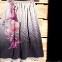 AKCIÓS! Egy szép, orchideás-liliomos szoknya, romantikusoknak :-), Ruha, divat, cipő, Női ruha, Szoknya, Varrás, A 15000 Ft feletti ingyen postázás nem vonatkozik minden termékre!!! Kérlek olvasd el ezzel kapcsol..., Meska