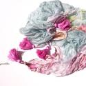 Rózsakendő (hernyóselyem, pink bojtos, Aranypántlika), Ruha, divat, cipő, Kendő, sál, sapka, kesztyű, Kendő, Női ruha, A 15000 Ft feletti ingyen postázás nem vonatkozik minden termékre!!! Kérlek olvasd el ezzel kapc..., Meska