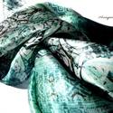 Azték smaragd. ( Hernyóselyem kendő ), Ruha, divat, cipő, Kendő, sál, sapka, kesztyű, Kendő, Női ruha, A 15000 Ft feletti ingyen postázás nem vonatkozik minden termékre!!! Kérlek olvasd el ezzel kapc..., Meska