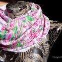 ÚJ TAVASZ (fehér-fűzöld-rózsaszín, tavaszi csősál), Ruha, divat, cipő, Kendő, sál, sapka, kesztyű, Sál, Női ruha, Varrás, A 15000 Ft feletti ingyen postázás nem vonatkozik minden termékre!!! Kérlek olvasd el ezzel kapcsol..., Meska