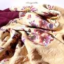 Színes virágos karamell :-) (romantikus csősál)  - Aranypántlika, Ruha, divat, cipő, Kendő, sál, sapka, kesztyű, Sál, Női ruha, A 15000 Ft feletti ingyen postázás nem vonatkozik minden termékre!!! Kérlek olvasd el ezzel kapc..., Meska