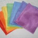 Selyemkendő-csomag (55x55cm) 7db-os ZSUNYOKA részére!!!, A szivárvány hét színére festettem ezeket az ...
