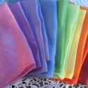 Selyemkendő-csomag 10db-os, A színkör 10 különböző színére festettem e...