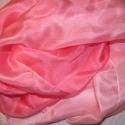 Rózsaszín álom selyemsál, 100% hernyóselyemből készült színátmenetes s...