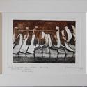Liszt: Transzcendens etűdök No.5 Feux follets - Lidércfény, Képzőművészet, Grafika, Karc, Illusztráció, Fotó, grafika, rajz, illusztráció, Méret: 10×15 cm rézkarc (aqutinta), papírra nyomtatva, 18×24 cm-es paszpartúban Egy kis sorozatszám..., Meska