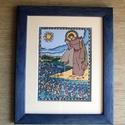 LEFOGLALVA proattila RÉSZÉRE! Szent Antal a halaknak prédikál - digitális nyomat - fali dekoráció keretben, Tengerparti jelenet Szent Antal életéből, aki a...
