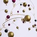 """""""Arany Fagyöngy"""" mobil függődísz - elegáns dekoráció, Egyedi ünnepi dísze lehet a lakásnak ez a mobil..."""