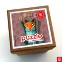 Puzzle - Róka a fotelben kirakós, Baba-mama-gyerek, Játék, Készségfejlesztő játék, 25 darabos kirakójáték. Illusztráció:Vigyázó Zsófia. Jó szórakozást!, Meska