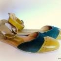 H madeS H O E  szandál  (36 37 38..-os), Ruha, divat, cipő, Cipő, papucs, Bőrművesség, Varrás, szandál,Egyedi tervezésű és kivitelezésű cipők, minden modell, az éppen aktuális anyagok által szül..., Meska