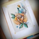 Rose-01, Otthon & lakás, Dekoráció, Kép, Fotó, grafika, rajz, illusztráció, Ceruza és filc rajz A/4-es méretben., Meska