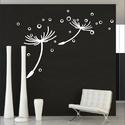 Pitypang falmatrica 180x120 cm falfelületre, Egyedi, saját készítésű,tervezésű falmatric...