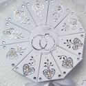 """""""Silver love"""" papírtorta díszdoboz 10 szeletes, Különleges, teljesen egyedi, kézzel készült, ..."""
