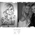 Karikatúra A3, Képzőművészet, Grafika, Rajz, Karikatúra rendelése fénykép alapján. A3 nagyságú rajz (297x420)   Art of Kršňák ART-TATTO..., Meska