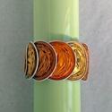 Sárga - narancs - csíkos kávékapszula karkötő, Ékszer, Karkötő, Sárga és narancssárga kávékapszulák születtek újjá ebben a karkötőben. Nagyon dekoratív, különleges,..., Meska