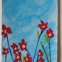 Tavaszi virág könyvjelző, Naptár, képeslap, album, Képzőművészet, Könyvjelző, Festészet, Papírművészet, Egyedi, kézzel és szívvel-lélekkel festett könyvjelző.  Akril festékkel készítem, 6cm*18cm akvarell..., Meska