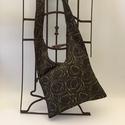Őszi szonáta táska, Táska, Ruha, divat, cipő, Tarisznya, Válltáska, oldaltáska, Három rekeszes táska mérete 45cmx33cm,cipzár hossza 34cm. Tépőzárral állítható pánt hossz..., Meska