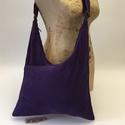 Dupla lila táska, Táska, Állatfelszerelések, Válltáska, oldaltáska, Tarisznya, Három rekeszes táska mérete 45cmx33cm,cipzár hossza 34cm.Állítható pánttal,hossza 108x4cm., Meska