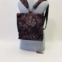 Krétarajz hátizsák-táska, Variálható hátizsák,tarisznya mérete 32 cm x ...