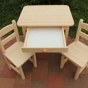 Gyerekasztal gyerekszék gyerek asztal szék sámli pad, Baba-mama-gyerek, Bútor, Asztal, Szék, fotel, Famegmunkálás, Épp most készítettem el, egy pont ugyanilyen csodaszép kisbútort. Tehát a bútor készen van azonnal ..., Meska