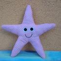 Tengeri  csillag rózsaszínben , Dekoráció, Játék, Baba-mama-gyerek, Plüssállat, rongyjáték, Mosolygós csillag készült nálam, szivacs és vatelin-béléssel a puhaságért, filcből duplán..., Meska