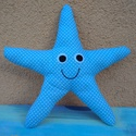 Tengeri  csillag kék színben , Dekoráció, Játék, Baba-mama-gyerek, Plüssállat, rongyjáték, Mosolygós csillag készült nálam, szivacs és vatelin-béléssel a puhaságért, filcből duplán..., Meska