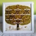 Családfa, Nászfa, esküfa, életfa, Képzőművészet, Családfa, Nászfa, életfa nagy méretű festett üveg, különleges üvegfestmény. Mérete 50 x 5..., Meska