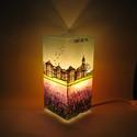 Örök emlék lámpa - festett üveg hangulatlámpa utazóknak, Otthon, lakberendezés, Lámpa, Asztali lámpa, Hangulatlámpa, Üvegművészet, Festett tárgyak, Örök emlék lámpa - festett üveg hangulatlámpa utazóknak  Utazást kedvelők, nagy utazók, világlátott..., Meska