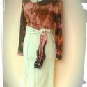 batik ruha, Baba-mama-gyerek, Ruha, divat, cipő, Női ruha, Ruha, trendi batikolt ruha,gyonyoruen alakhoz simulo,small meretre keszult. egyedi darab. derekan ovvel. a..., Meska
