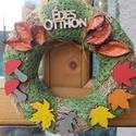 Őszi ajtódísz - gombás,leveles