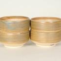 Kerámia japános teáscsésze készlet, 4 db , Otthon, lakberendezés, Konyhafelszerelés, Bögre, csésze, Kerámia, Sárga agyagból készült, magastűzön tömörre égetett kerámia japános 4 darabos teáscsésze készlet.(al..., Meska