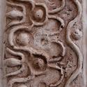 Római bordűr, Dekoráció, Képzőművészet, Otthon, lakberendezés, Képkeret, tükör, Kőfaragás, Szobrászat, Koptatott kőhatásü bordűr 50x16 x3 cm méretben. Jol passzol kopott,foltos falfelületek ajto és  kép..., Meska