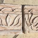 Kis bordűr, Dekoráció, Képzőművészet, Otthon, lakberendezés, Képkeret, tükör, Kőfaragás, Szobrászat, Koptatott kőhatásü bordűr 10x10x2 cm méretben.  A forma agyagbol saját kezüleg készített és sablono..., Meska
