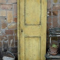Antik ajtó festve, őszi hangulatban, Otthon, lakberendezés, Falikép, Régi bútorajtót festettem, amelyet az ősz ihletett! Dekorációnak ajánlom falra, fedett teraszra! Mér..., Meska