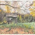 Ház az erdő mélyén, színes ceruza rajz, Művészet, Grafika & Illusztráció, Fotó, grafika, rajz, illusztráció, Eredeti, Ház az erdő mélyén című színes ceruza rajzom.  A4-es papíron, keret nélkül., Meska