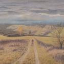 Őszi táj, rajz, Művészet, Grafika & Illusztráció, Fotó, grafika, rajz, illusztráció, Eredeti színes ceruza rajzom, mely az őszi tájat ábrázolja Gömörszőlős falu határában. A3 méretben,..., Meska