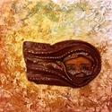 Tunézia, Képzőművészet, Dekoráció, Napi festmény, kép, Kép, Különleges technikával készített 3D-s textil arcképes falikép. 21 x 21 cm méretű feszített..., Meska