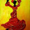 Latino leányka, Képzőművészet, Dekoráció, Napi festmény, kép, Kép, Különleges technikával készített 3D-s textil lányka falikép. 18 x 24 cm méretű feszített v..., Meska