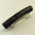Abalone bedugós fülbevaló,  Erdei iszalagból készült, lyukakkal, szögekke...