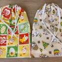 Kenyeres zsák, Mintás pamutvászonból készült kenyeres zsák,...