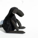 Puha Plüss Fekete Bárány, Baba-mama-gyerek, Játék, Gyerekszoba, Plüssállat, rongyjáték, Baba-és bábkészítés, Varrás, Puha plüss fekete bárány. A bárány teste és nyaka puha, fekete, bolyhos plüssből készül, karjai, lá..., Meska