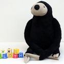 Nagy Fekete Plüss Lajhár, Baba-mama-gyerek, Játék, Gyerekszoba, Plüssállat, rongyjáték, Baba-és bábkészítés, Varrás, Ez a lajhár a dzsungel leglassabb, de egyben legkedvesebb állata. Mindig vidám és ölelésre kész. Se..., Meska