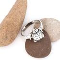 Katica ezüst gyűrű, Ékszer, Gyűrű, Ékszerkészítés, Fémmegmunkálás, Katica ezüst gyűrű. A katica mérete: 1 cm Az ékszer elkészítésének a menete: A méretedre készül el ..., Meska