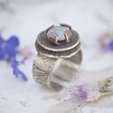 Köves gyűrű, Ékszer, Gyűrű, Ékszerkészítés, Ezüst ékszerek mellet réz ékszereket is készítek. Nagyrészt vörösrezet és sárgarezet használok, ami..., Meska