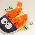 """Kisbogár, plüssjáték (BIO), Baba-mama-gyerek, Játék, Baba-mama kellék, Készségfejlesztő játék, Hímzés, Varrás, """"Csodaszép kis bogárka""""  Itt a sárga bogár, narancssárga szárnyakkal vásárolható meg!!!  Ez a kis c..., Meska"""