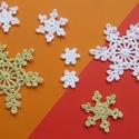 Horgolt hópihék, Dekoráció, Karácsonyi, adventi apróságok, Ünnepi dekoráció, Karácsonyi dekoráció, Horgolás, Gondos kézimunkával készített horgolt hópihék. Alkalmas felcérnázva ablakdísznek, karácsonyfadíszne..., Meska