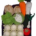 játék étel- zöldséges szett polárból, Játék, Készségfejlesztő játék, Amikor játék az étel...  A kislányok egyik legkedvesebb játéka a főzős játék.Az általam g..., Meska