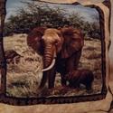 Szafari mintás párna50x50cm, Baba-mama-gyerek, Gyerekszoba, Patchwork, foltvarrás, Szafari mintás párnahuzat 50x 50 cm-es méretben, , Meska