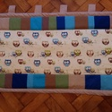 Baglyos patchwork  falvédõ, Baba-mama-gyerek, Gyerekszoba, 55x 154 cm-es  a baglyos falvédő, színes kerettel  A falvédő bélelt, a töltet műszálas, 200..., Meska